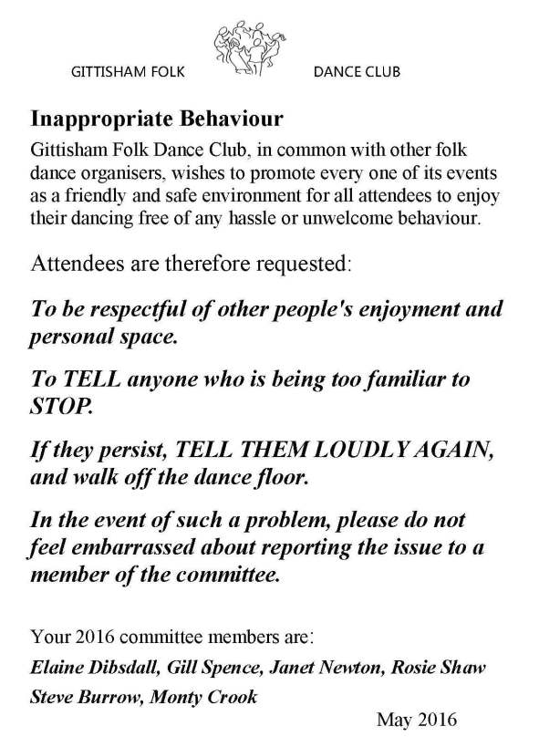 Inapproprate Behaviour