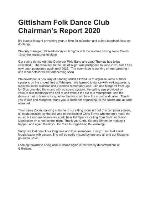 GFDC Chairman report 2020